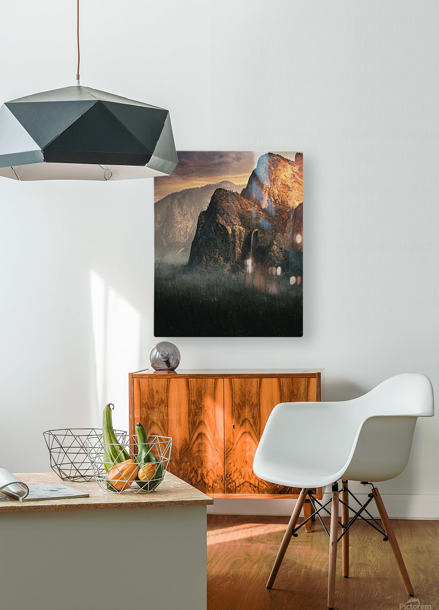 Bridalveil fall, Yosemite  HD Metal print with Floating Frame on Back