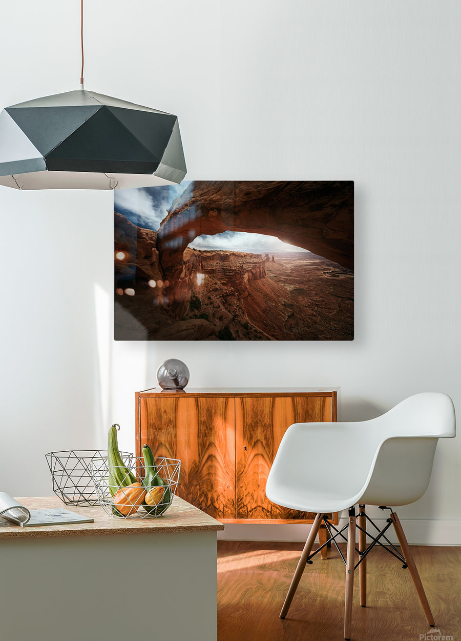Mesa Arch  HD Metal print with Floating Frame on Back