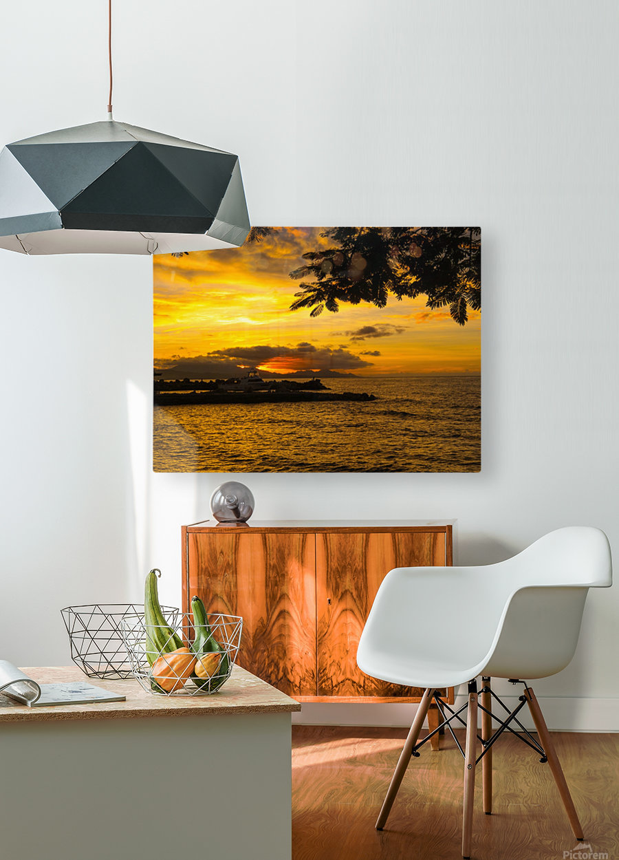 Fire in the sky  HD Metal print with Floating Frame on Back