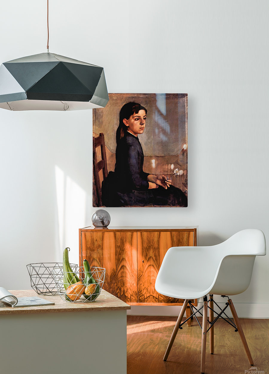 Louise-Delphine Duchosal by Ferdinand Hodler  HD Metal print with Floating Frame on Back