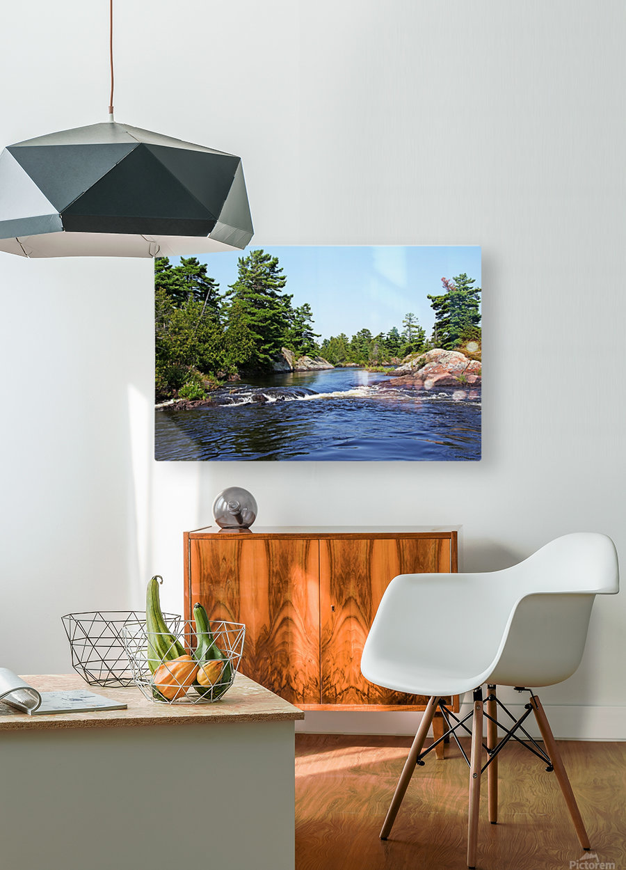 Lovers Rapids Lower French River  HD Metal print with Floating Frame on Back
