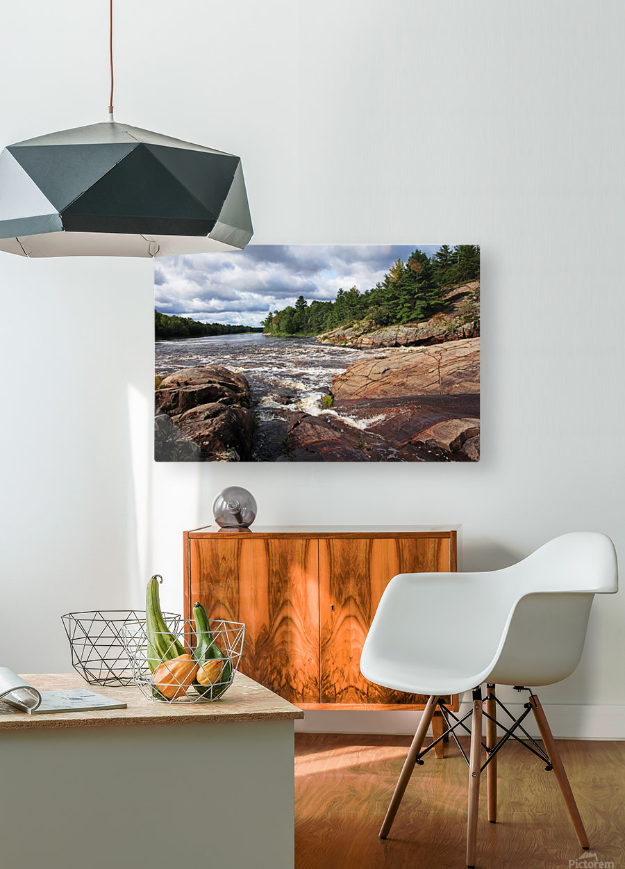 Sturgeon Chutes IX  HD Metal print with Floating Frame on Back