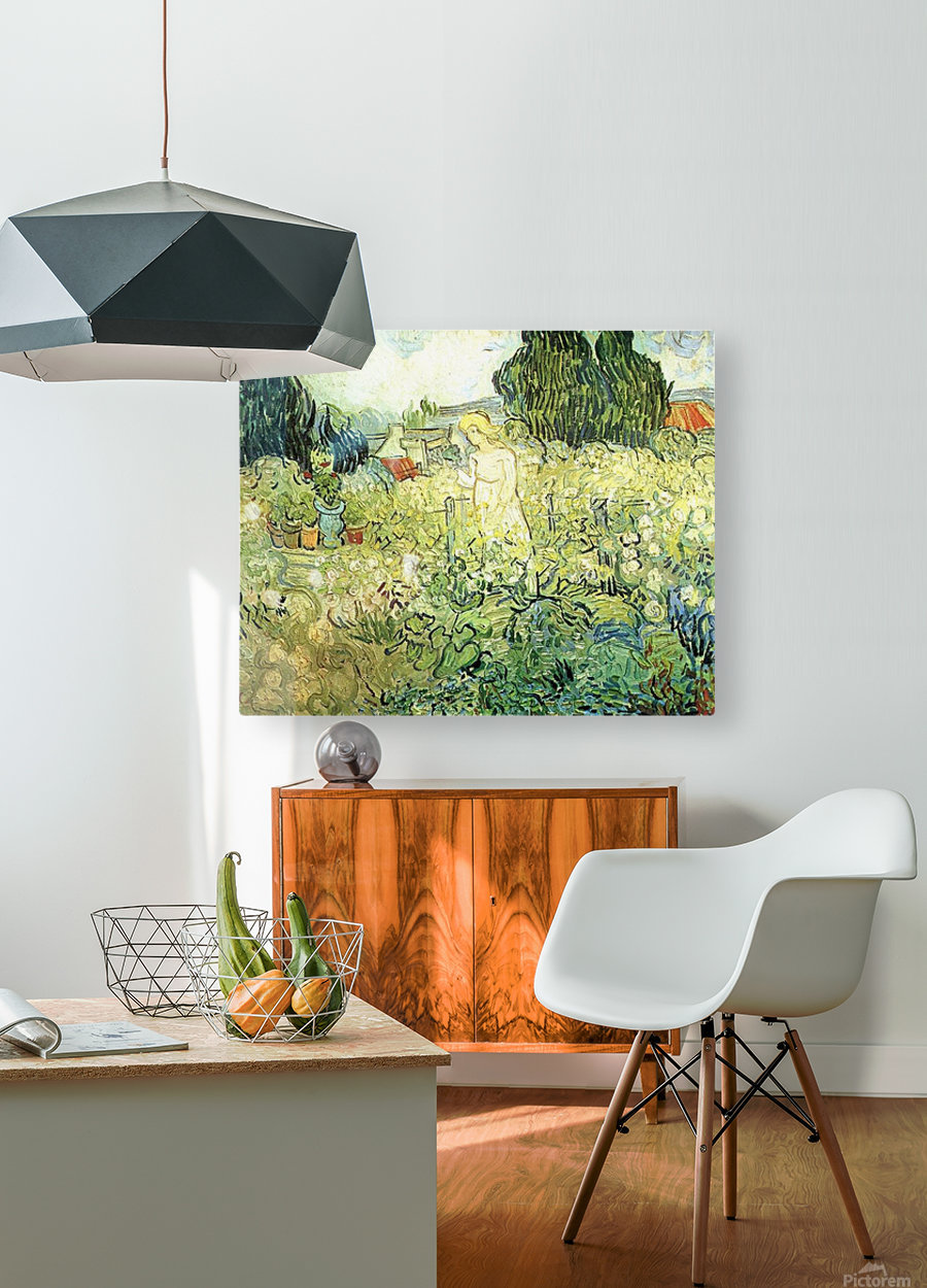Marguerite Gachet in her garden by Van Gogh  HD Metal print with Floating Frame on Back