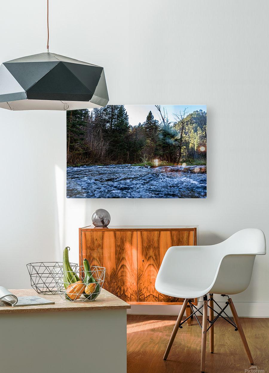 Creek  HD Metal print with Floating Frame on Back