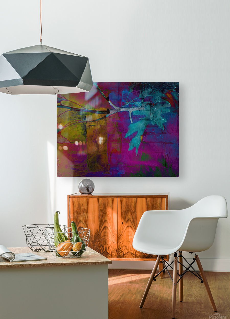 Fall Weather  HD Metal print with Floating Frame on Back