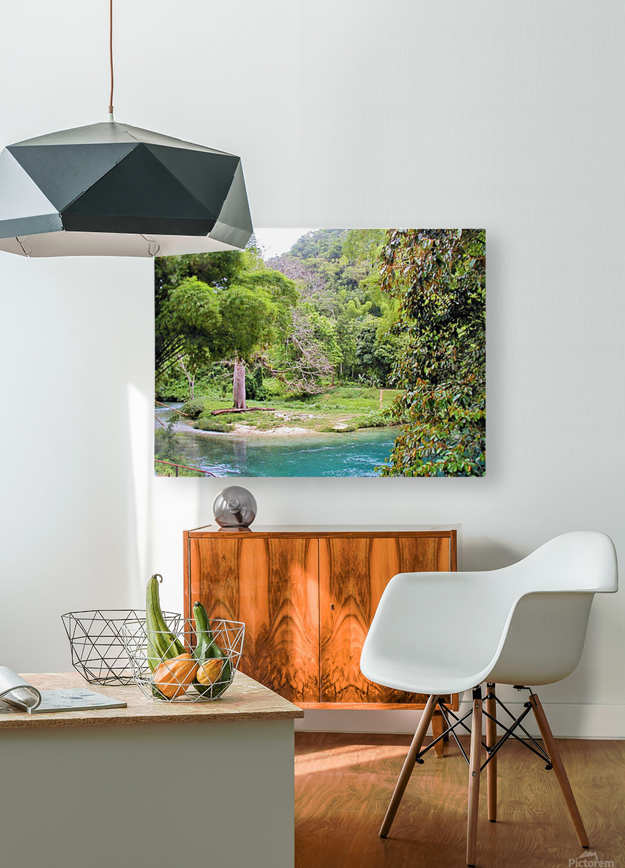 River7  HD Metal print with Floating Frame on Back
