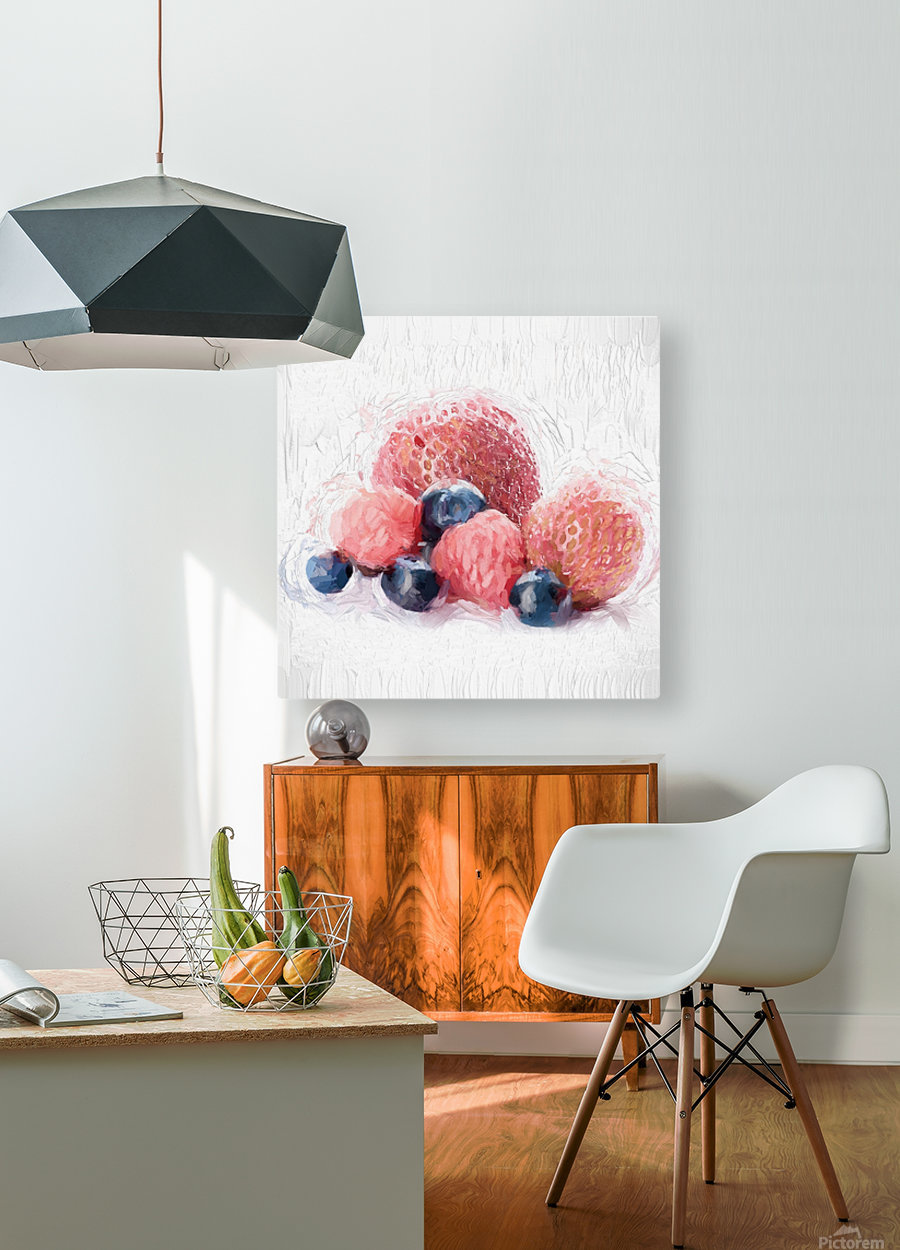 Berries  HD Metal print with Floating Frame on Back