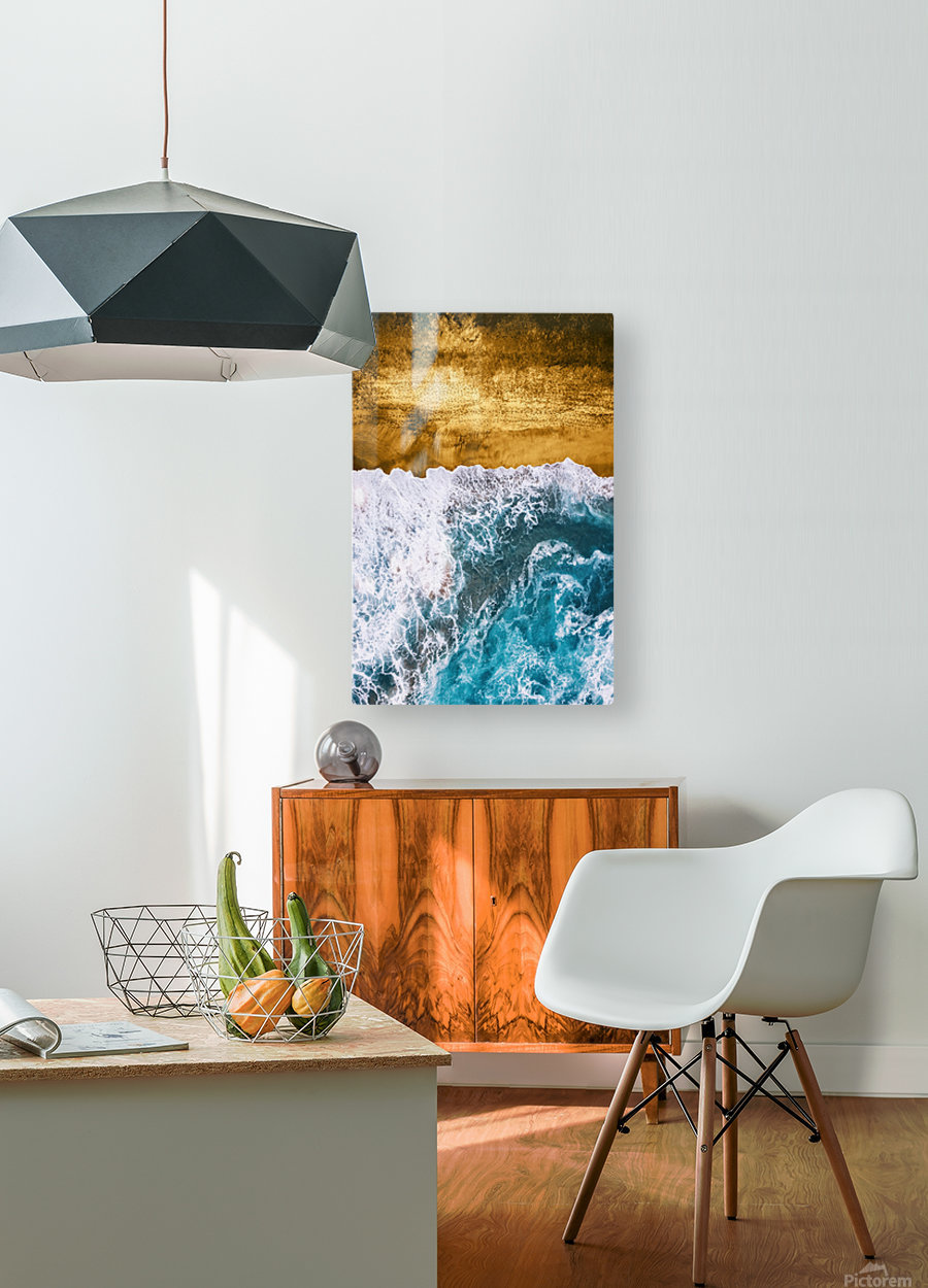 Tropical XVI - Golden Beach  HD Metal print with Floating Frame on Back