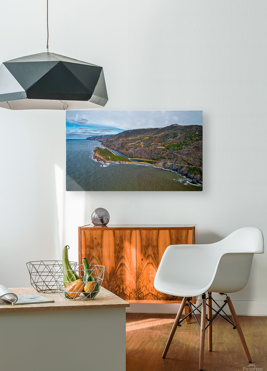 Cabot Trail  HD Metal print with Floating Frame on Back