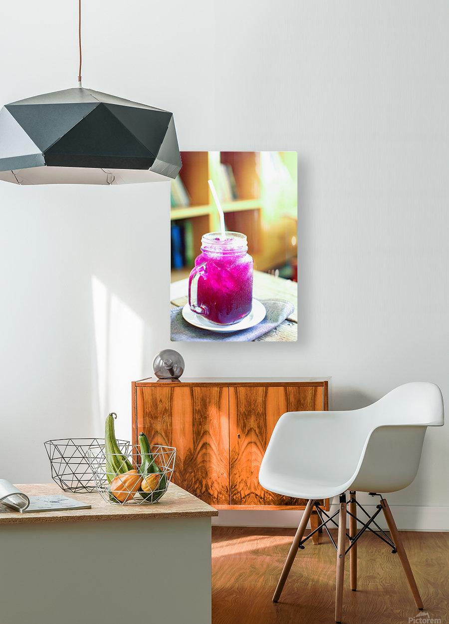 Herb juice.  HD Metal print with Floating Frame on Back