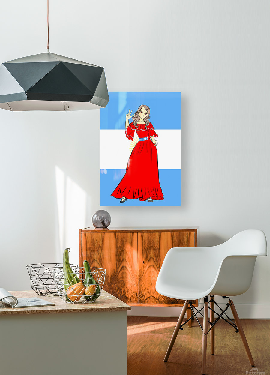 Argentina  HD Metal print with Floating Frame on Back