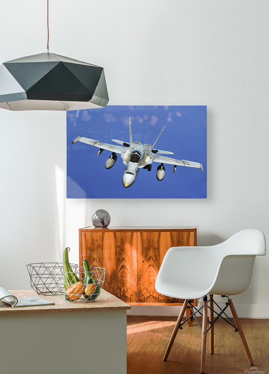 A F-A-18 Hornet participates in a mission in support of Rim of the Pacific.  HD Metal print with Floating Frame on Back
