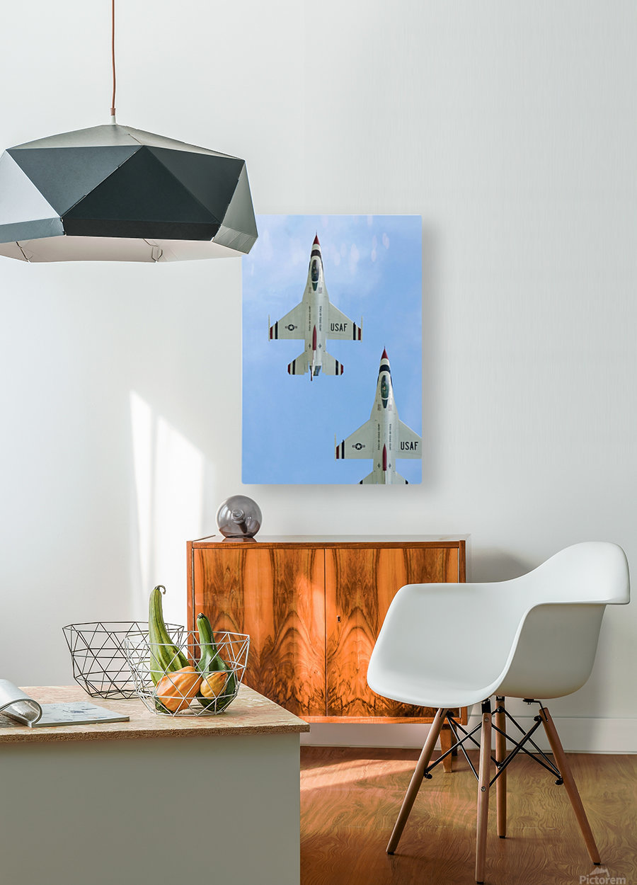 The United States Air Force Demonstration Team Thunderbirds  HD Metal print with Floating Frame on Back