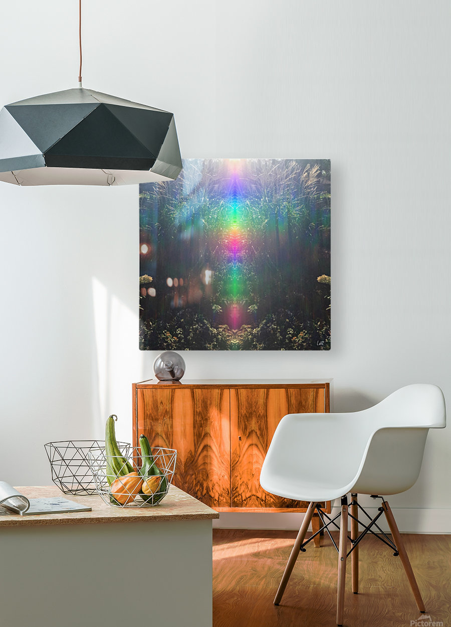 Light Upgrades  HD Metal print with Floating Frame on Back