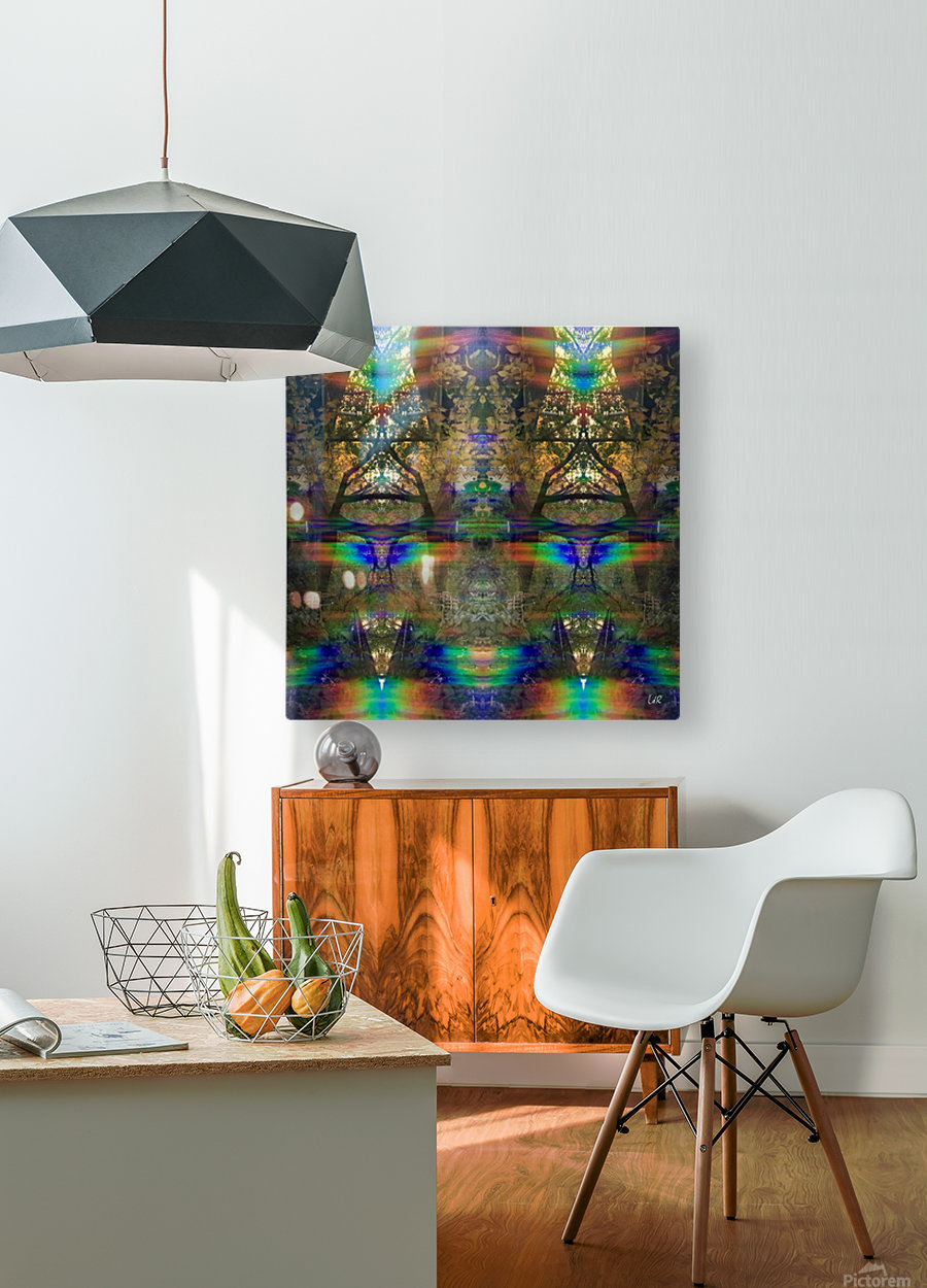 Colliding Universes  HD Metal print with Floating Frame on Back