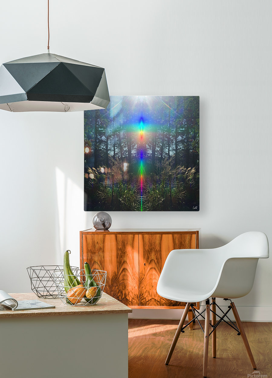 Rainbow Light  HD Metal print with Floating Frame on Back