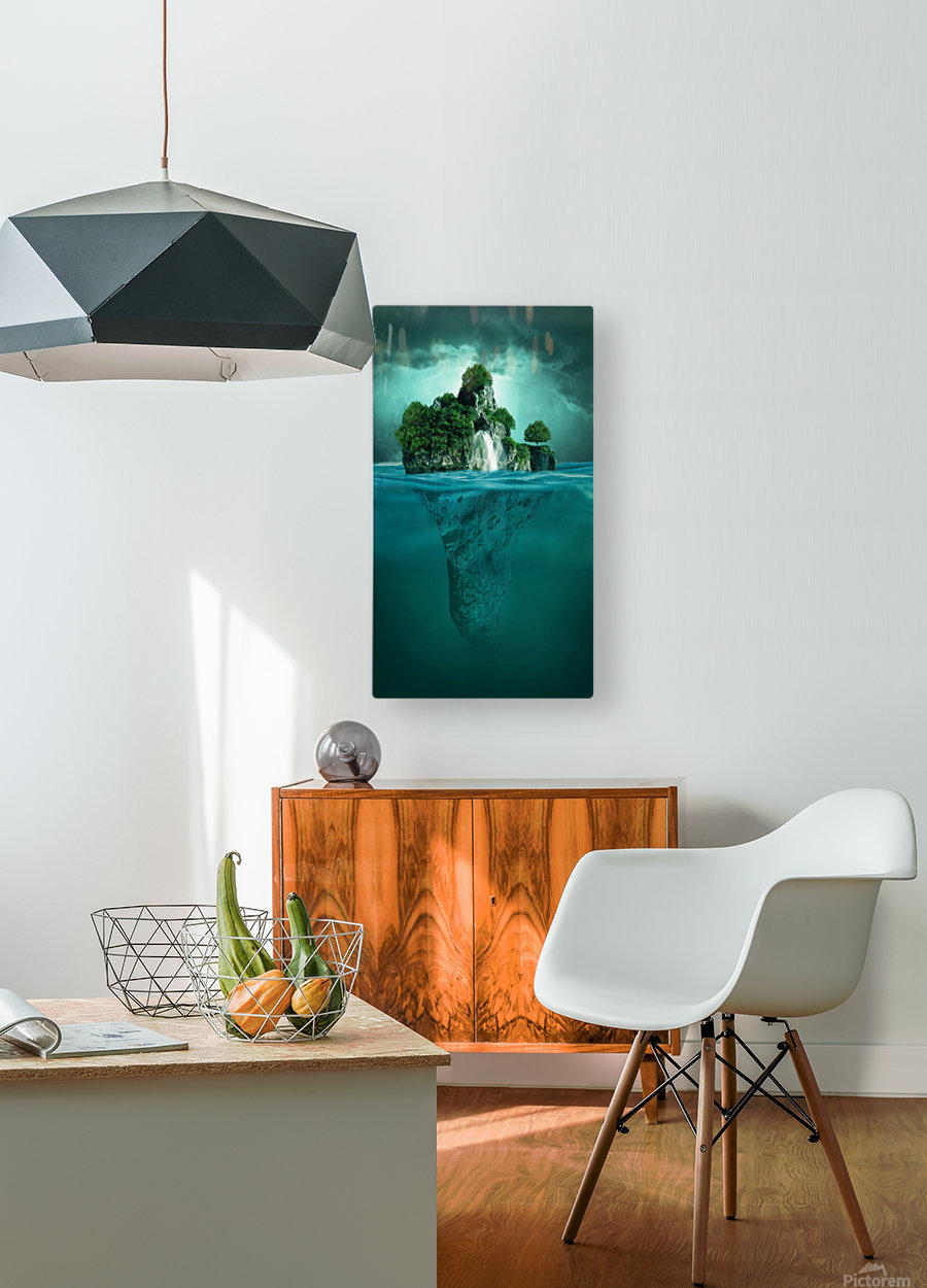 MYSTERY ISLAND  HD Metal print with Floating Frame on Back