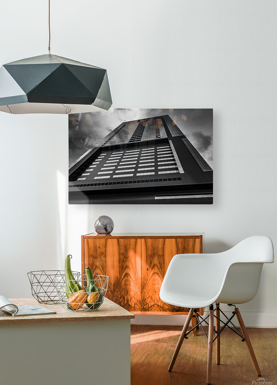 SKYSCRAPER  HD Metal print with Floating Frame on Back