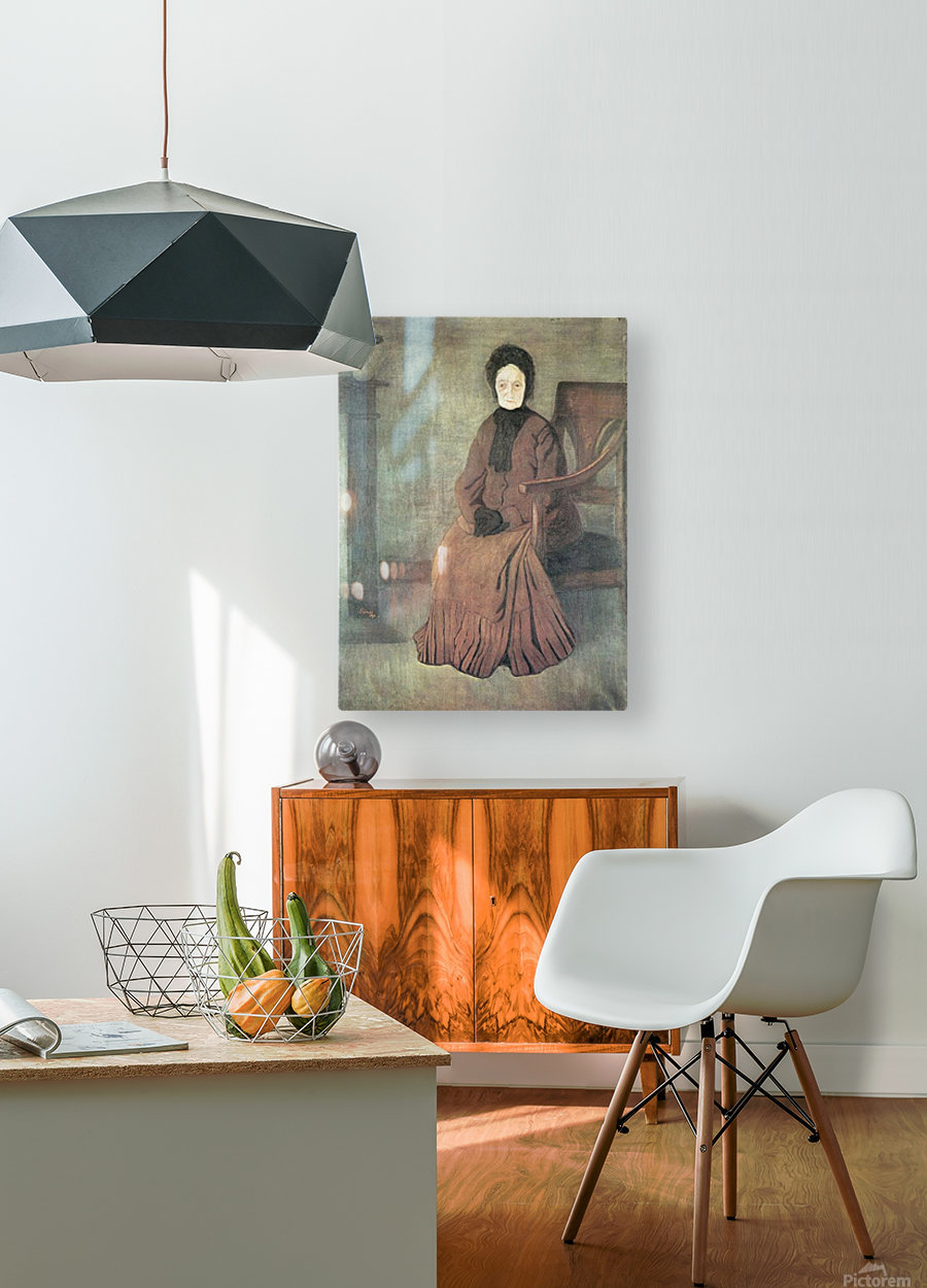 My grandmother by Joseph Rippl-Ronai  HD Metal print with Floating Frame on Back