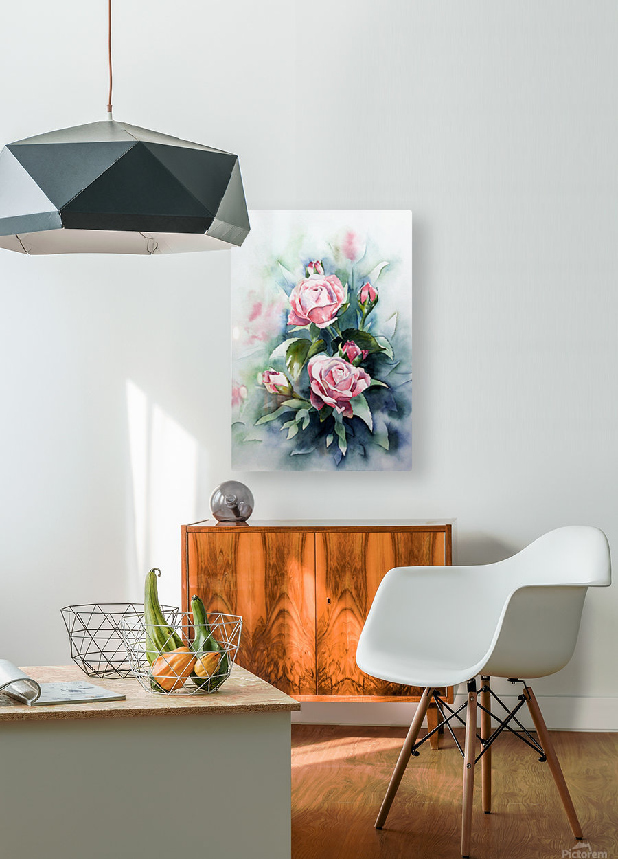 ROSES  HD Metal print with Floating Frame on Back