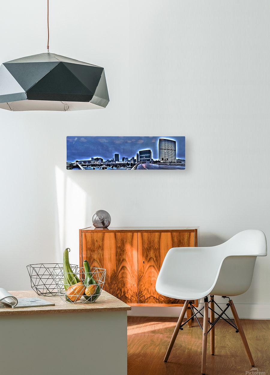 Surreal Atlanta  HD Metal print with Floating Frame on Back