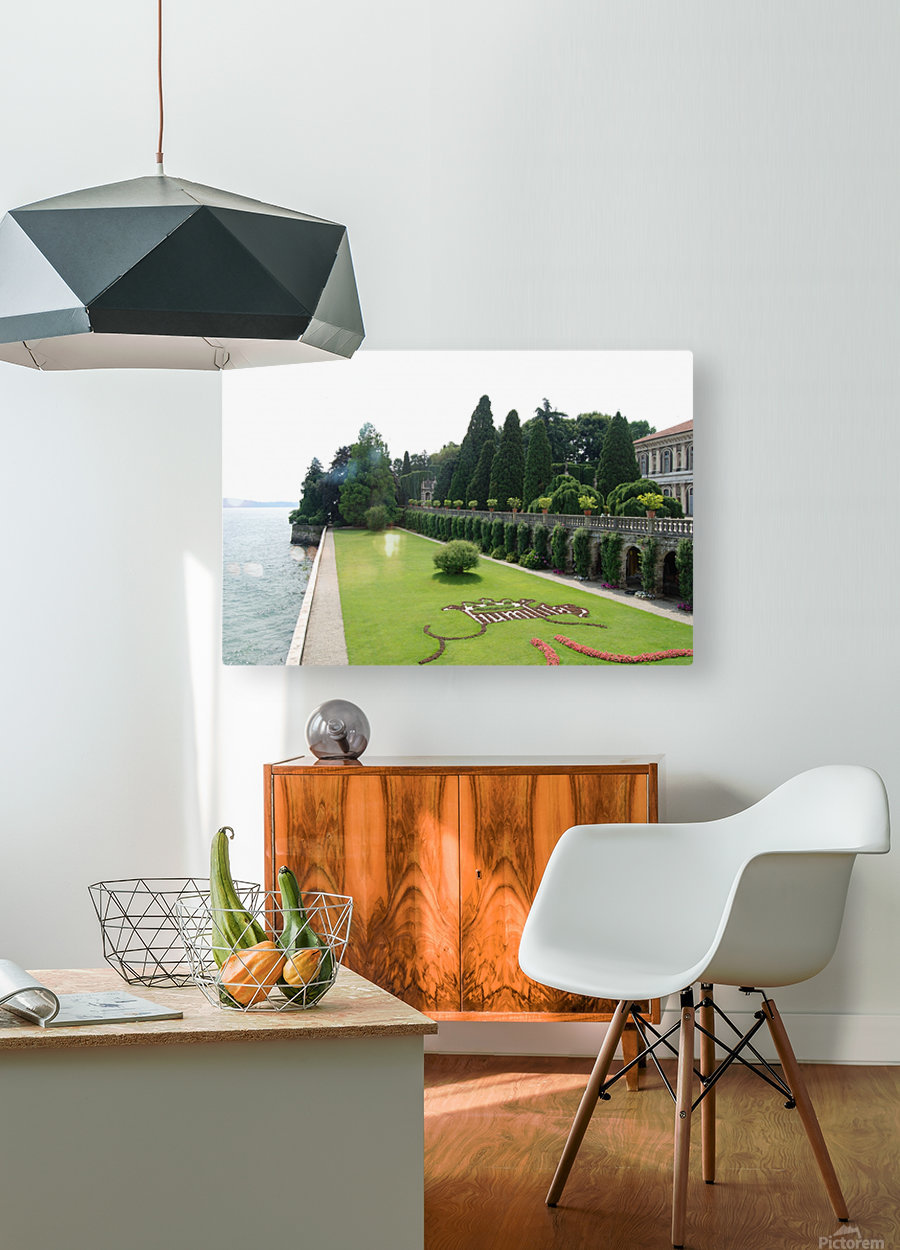 Island Lawn  HD Metal print with Floating Frame on Back