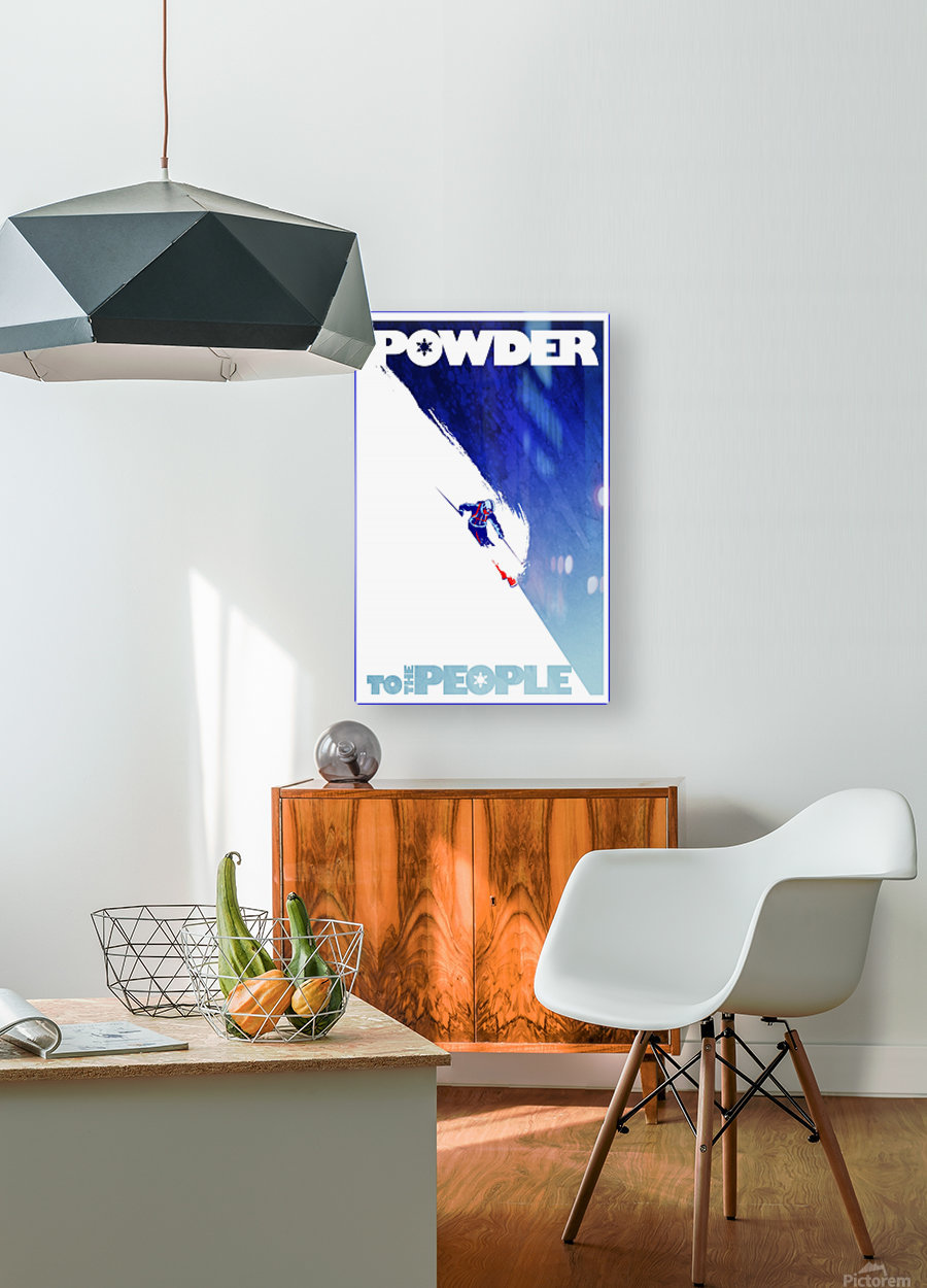 Powder To The People   HD Metal print with Floating Frame on Back