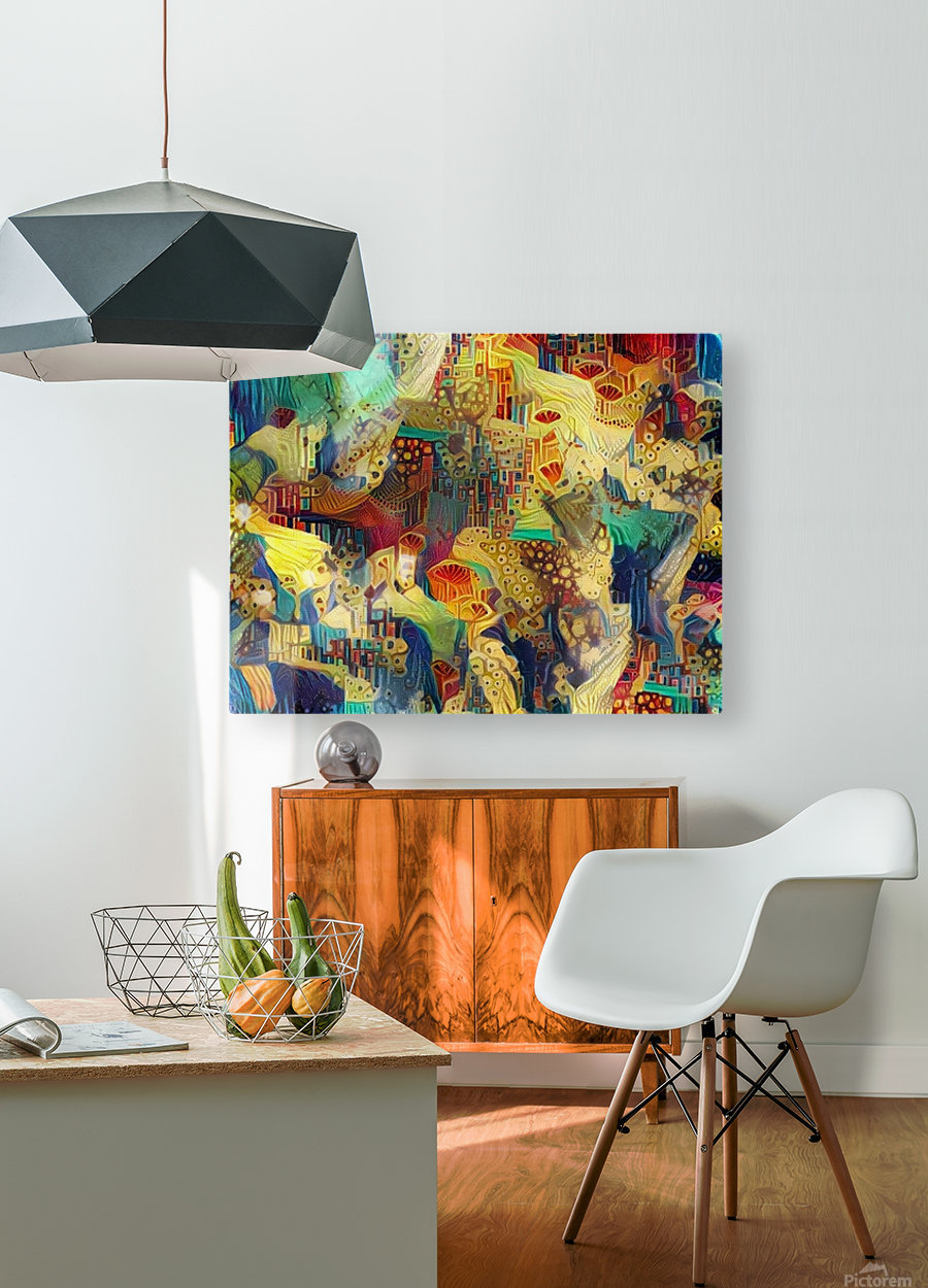 Colorful Abstract Ornament  HD Metal print with Floating Frame on Back
