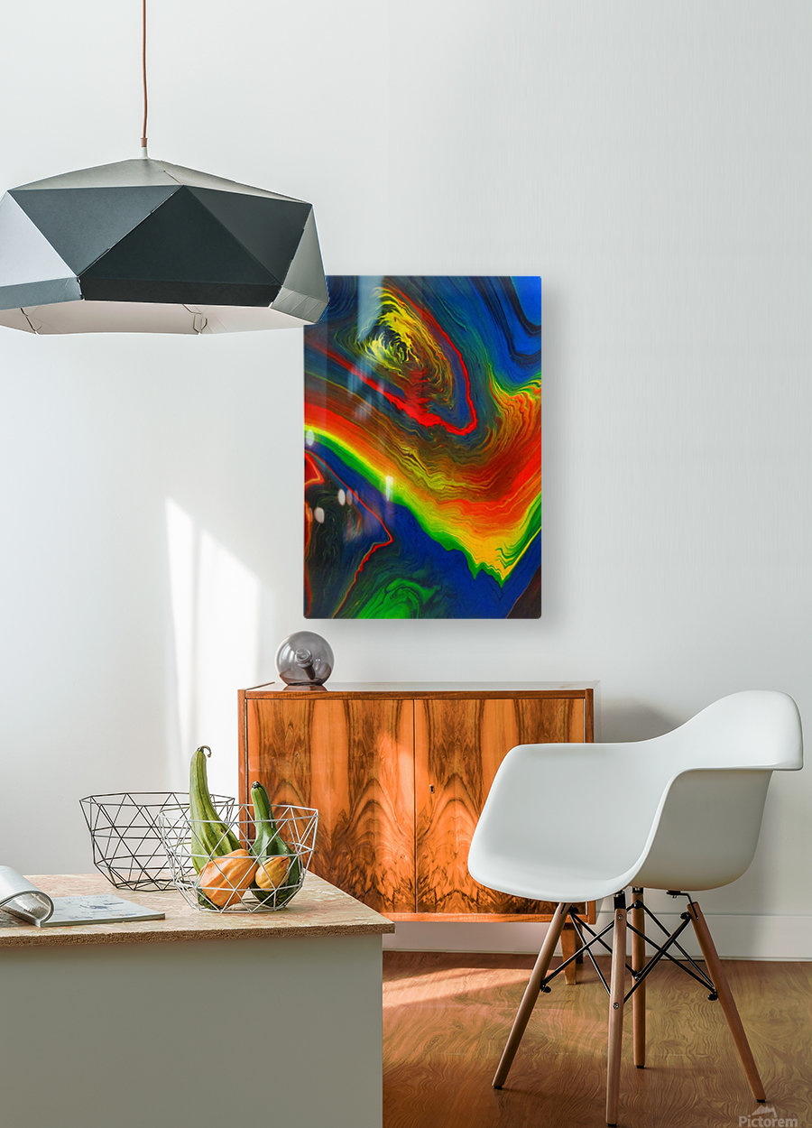 The Eye of a Storm  HD Metal print with Floating Frame on Back