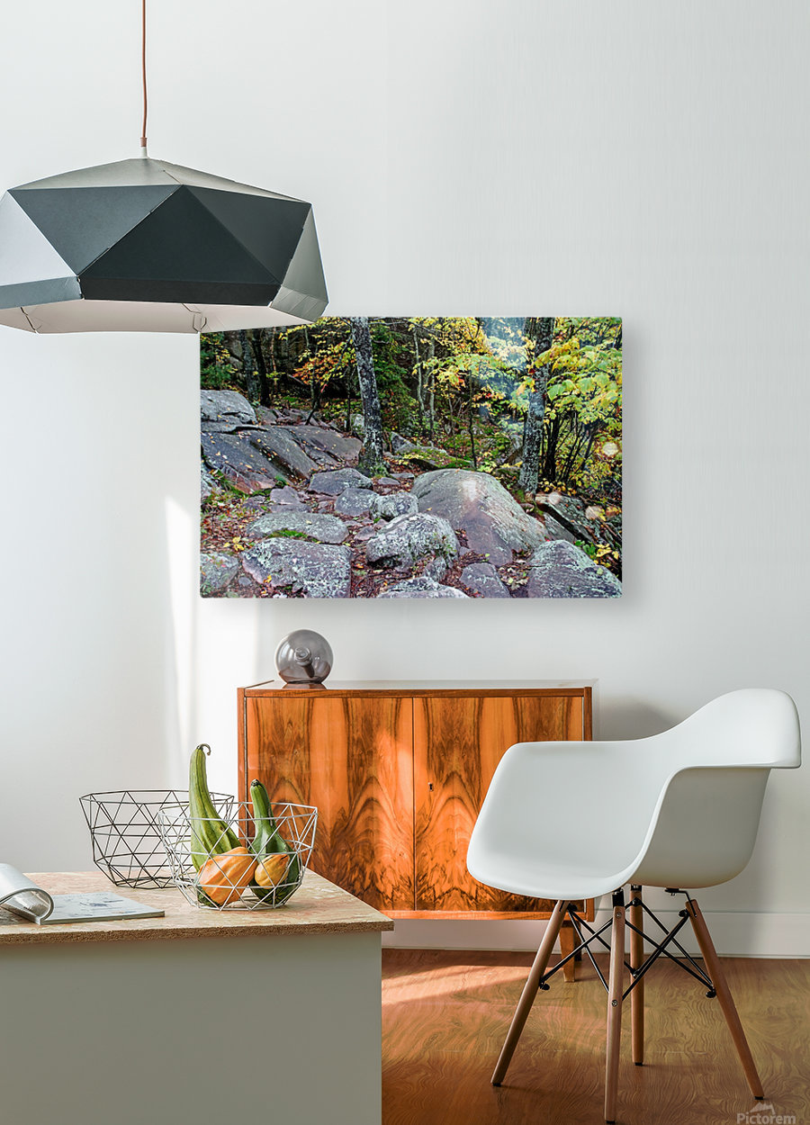 Chikanishing Trail  HD Metal print with Floating Frame on Back