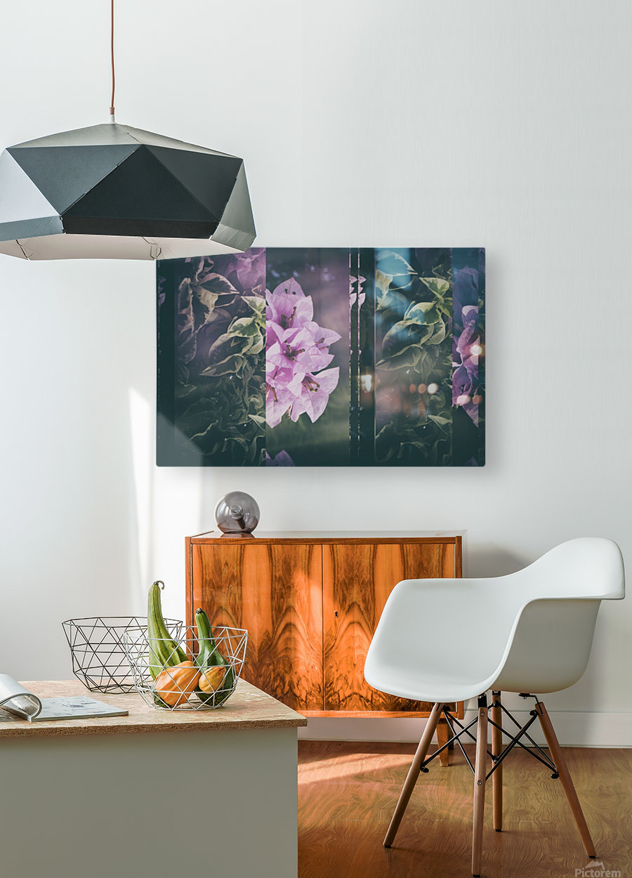 Bougainvillea Collage  HD Metal print with Floating Frame on Back