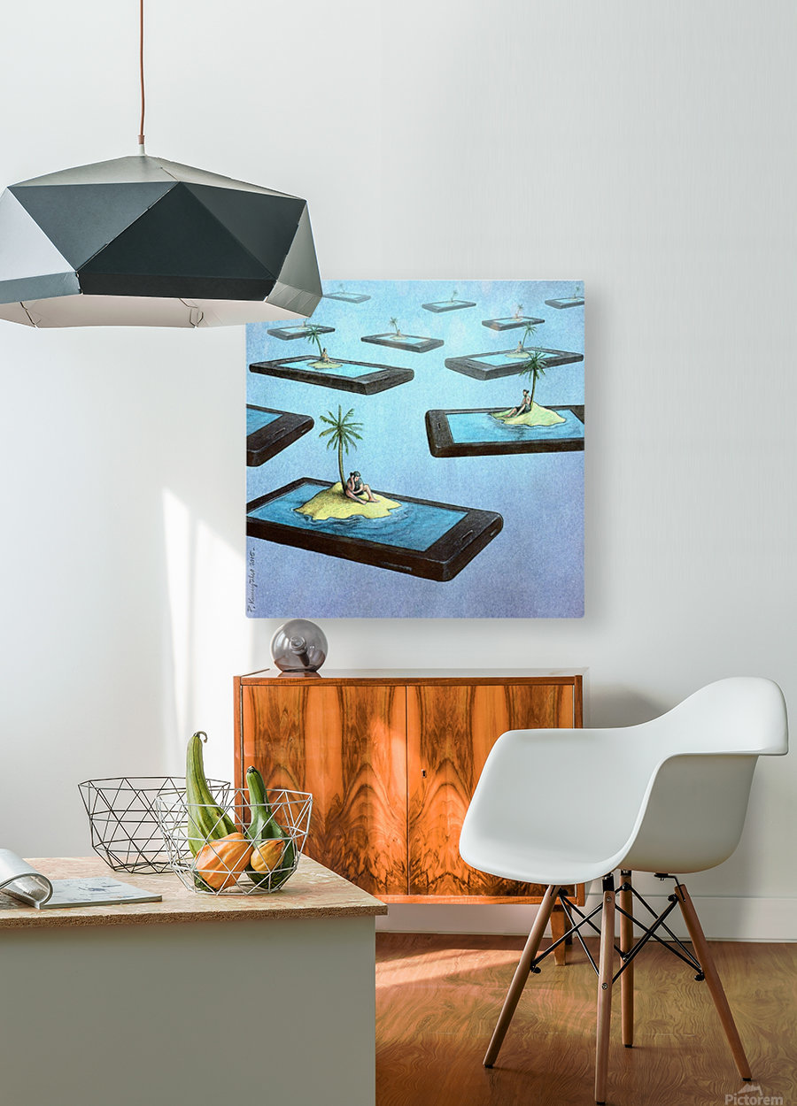 Islands  HD Metal print with Floating Frame on Back