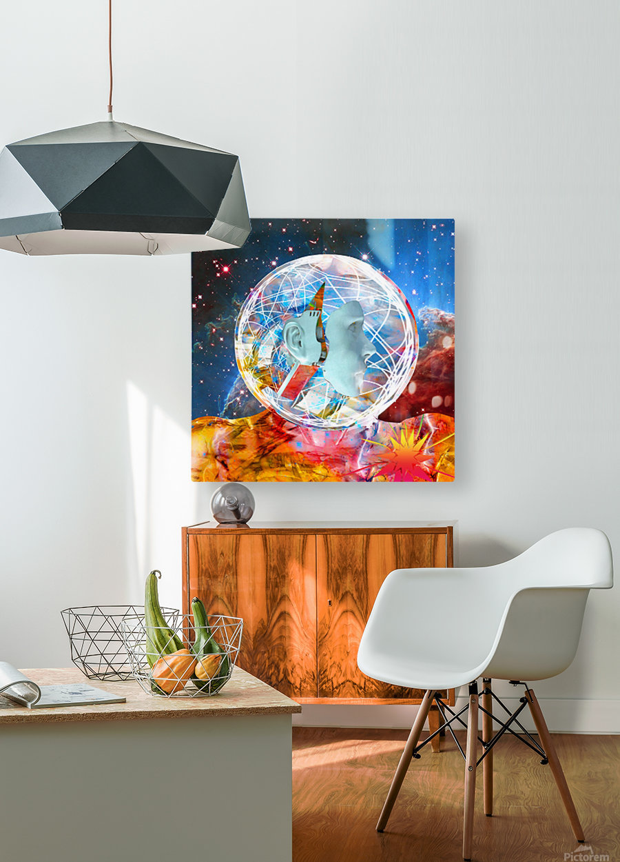 Star Robot  HD Metal print with Floating Frame on Back