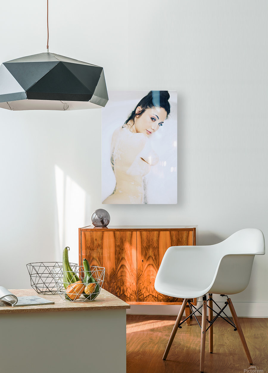Lush  HD Metal print with Floating Frame on Back
