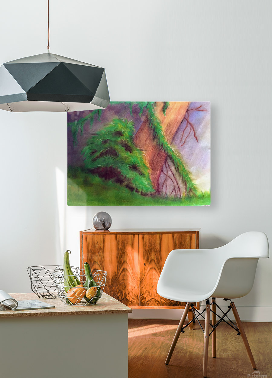 Rainforest  HD Metal print with Floating Frame on Back