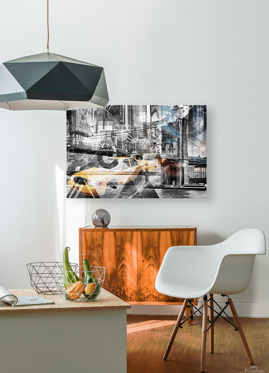 Modern Art NYC Collage  HD Metal print with Floating Frame on Back