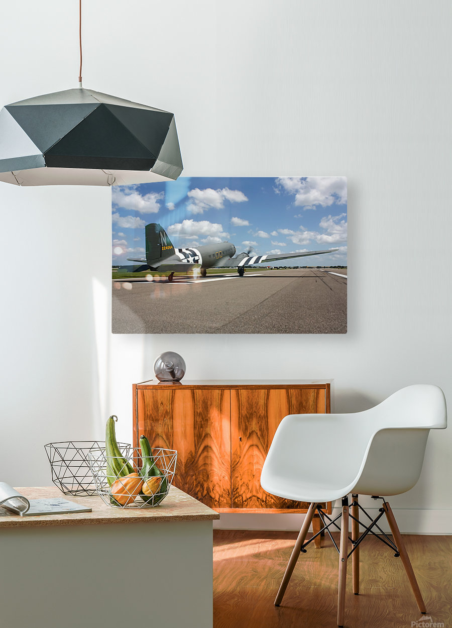 Sun N Fun C-47  HD Metal print with Floating Frame on Back
