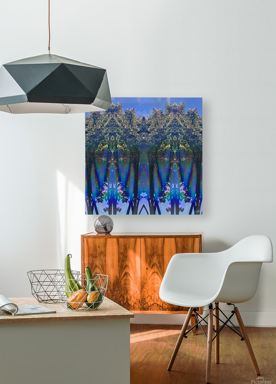 Invasion  HD Metal print with Floating Frame on Back