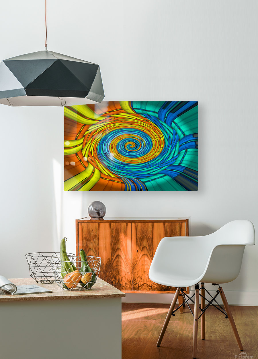 Magic Swirl  HD Metal print with Floating Frame on Back