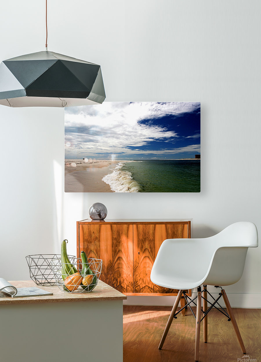 Shoreline  HD Metal print with Floating Frame on Back