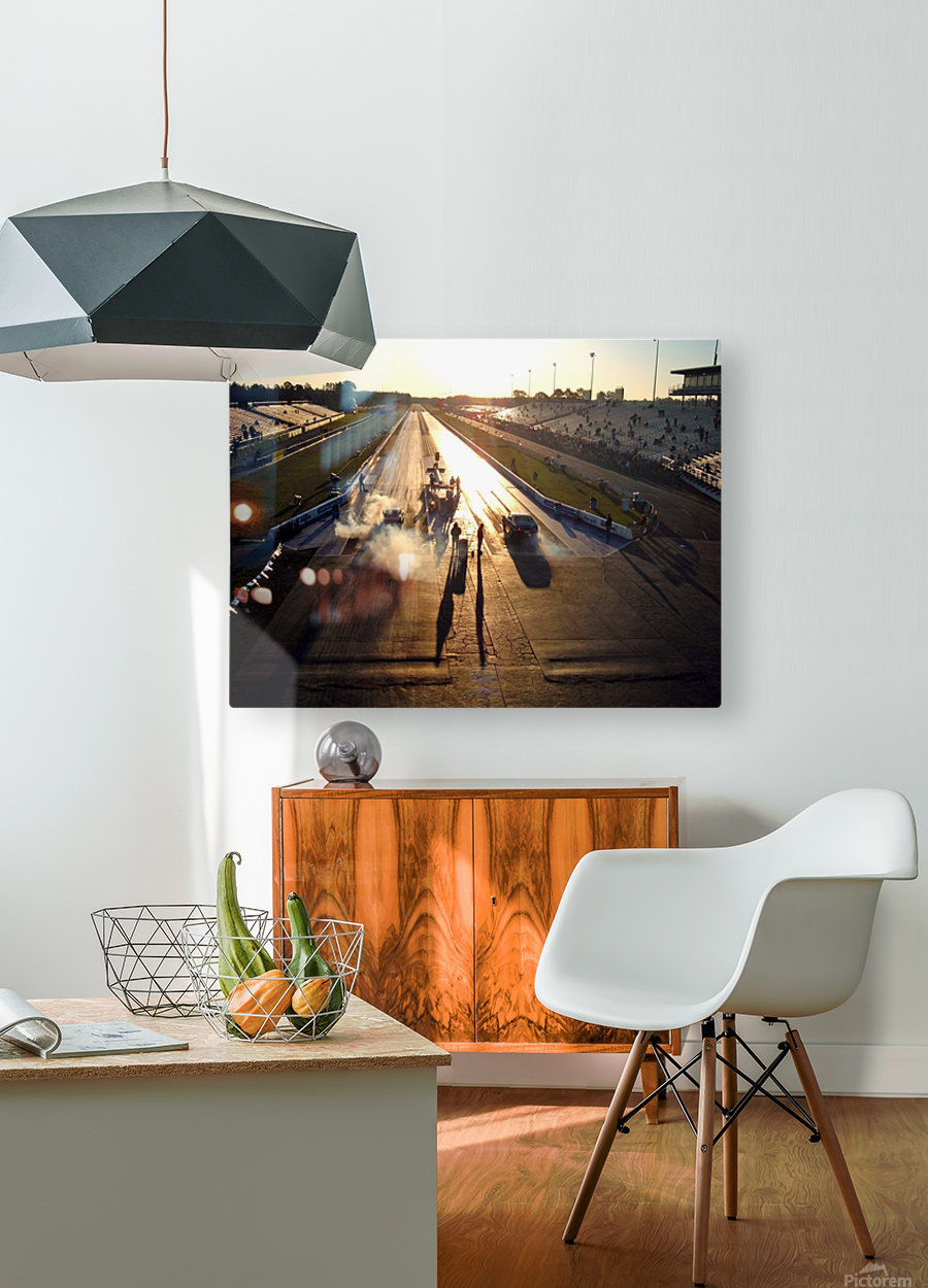 Dawn at the Drags  HD Metal print with Floating Frame on Back