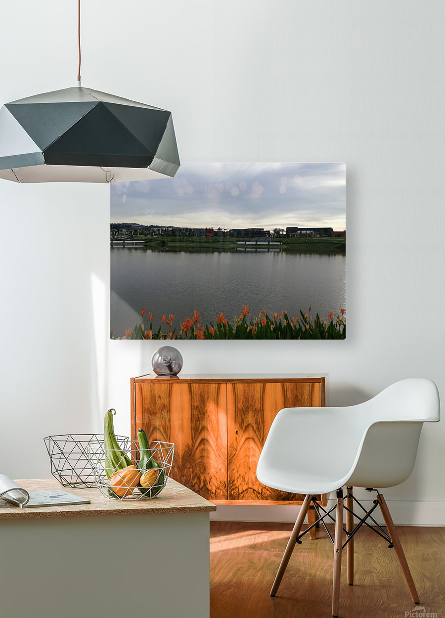 Good morning  HD Metal print with Floating Frame on Back