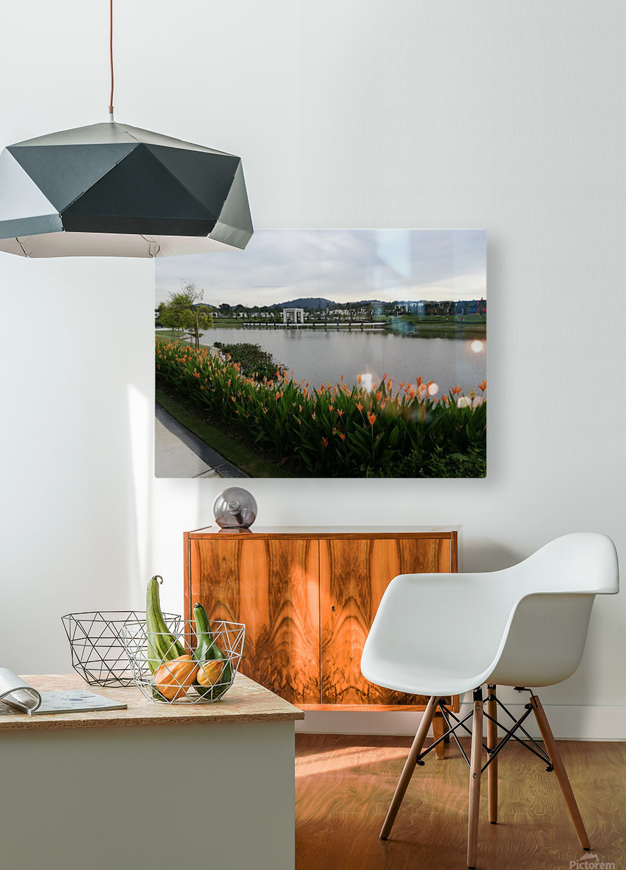 Good morning to you  HD Metal print with Floating Frame on Back