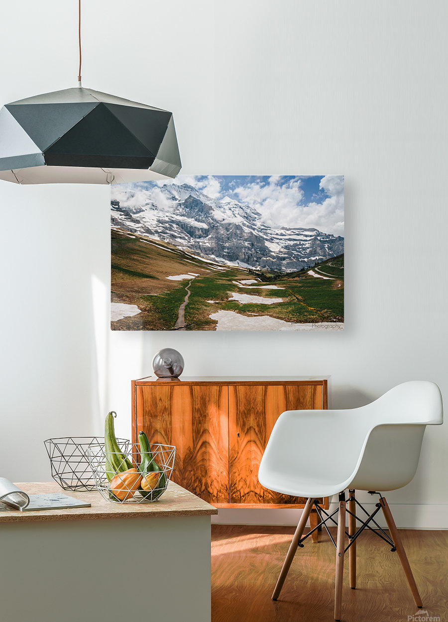 Trailhead  HD Metal print with Floating Frame on Back