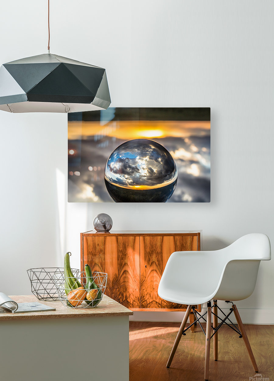 Lens Ball7  HD Metal print with Floating Frame on Back