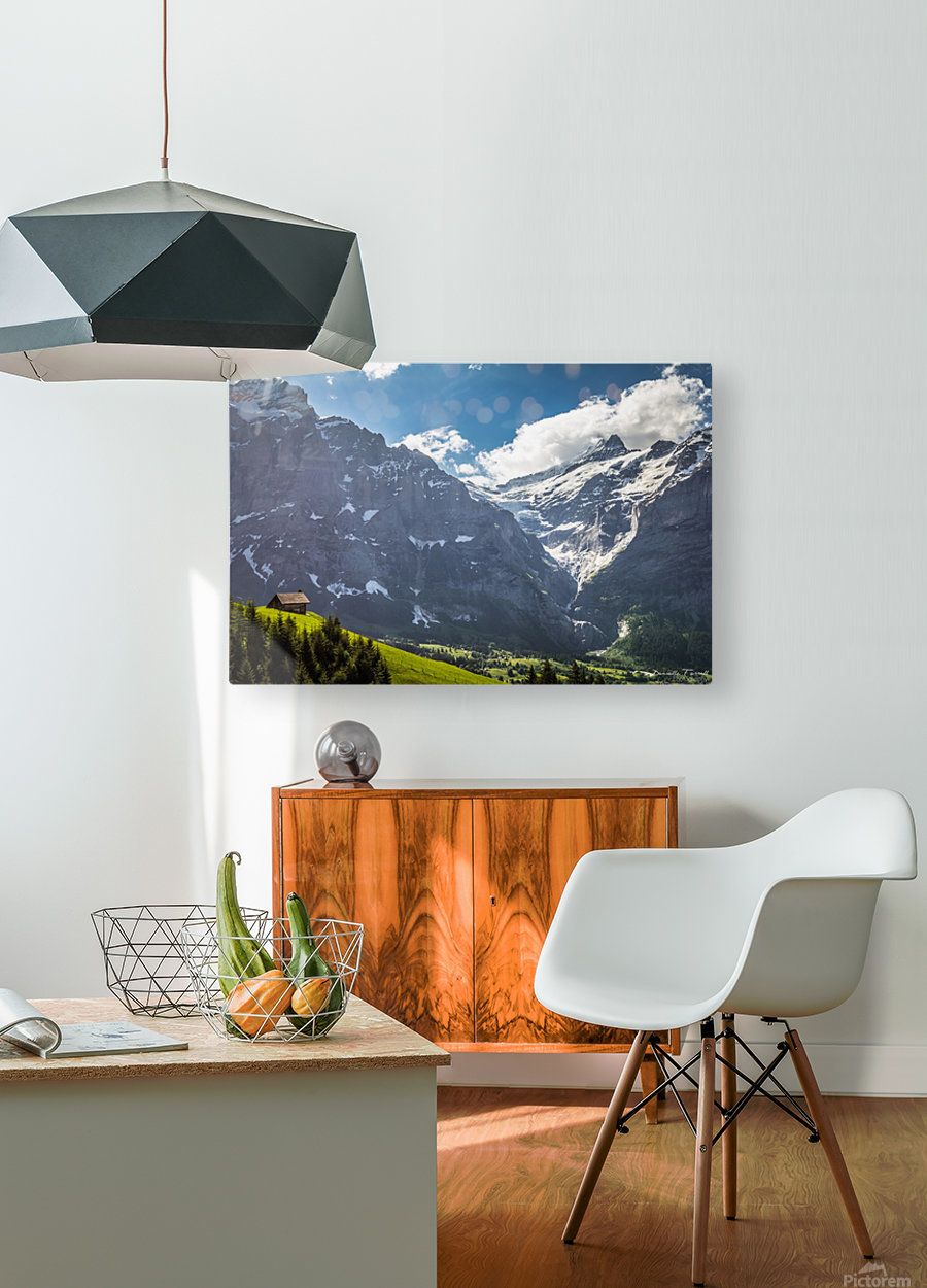 Hut Overlook  HD Metal print with Floating Frame on Back