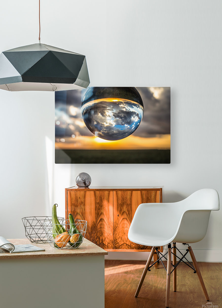 Lens Ball3  HD Metal print with Floating Frame on Back