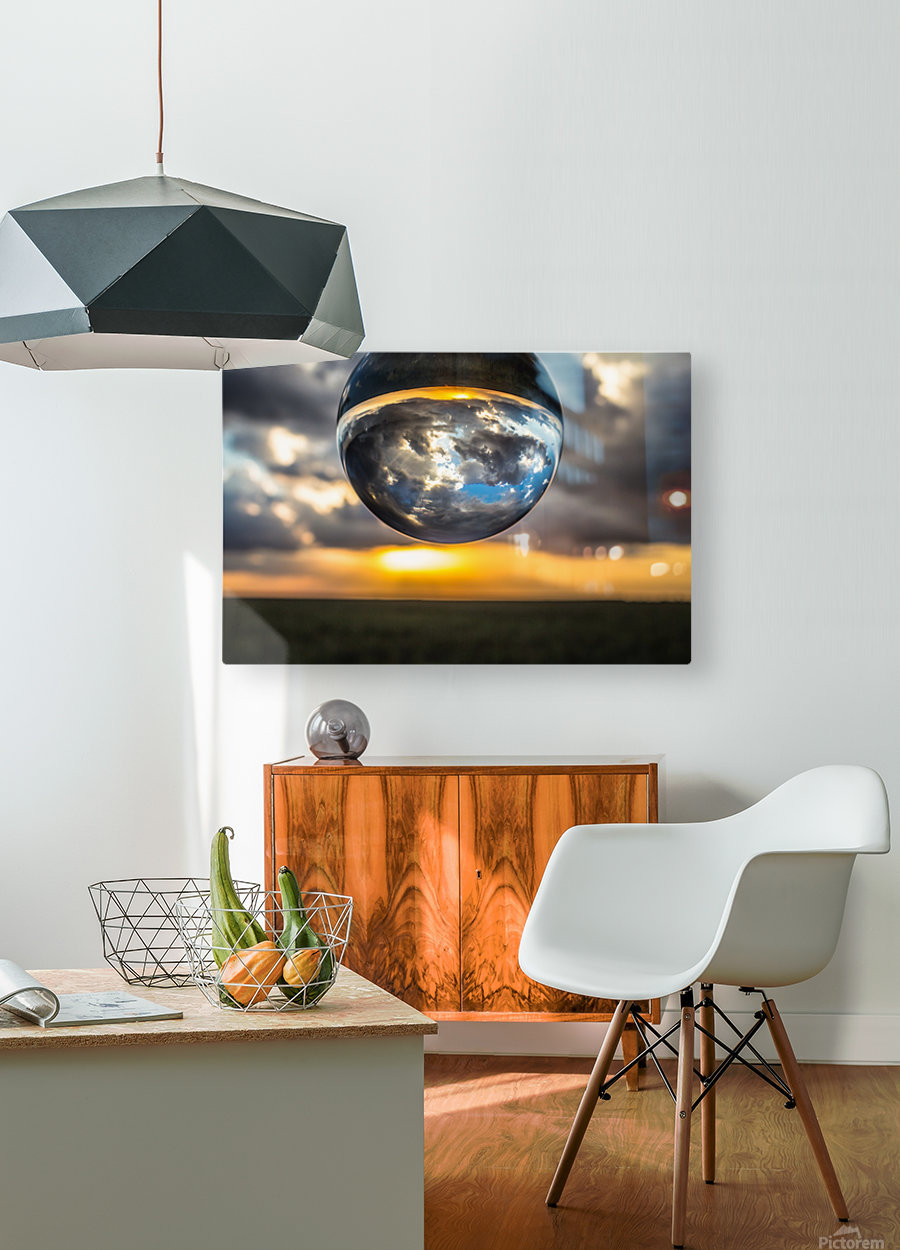 Lens Ball2  HD Metal print with Floating Frame on Back