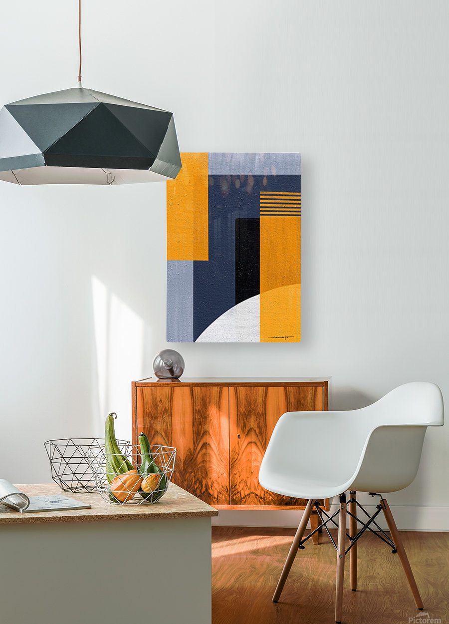 Abstract Geometric Space 1  HD Metal print with Floating Frame on Back