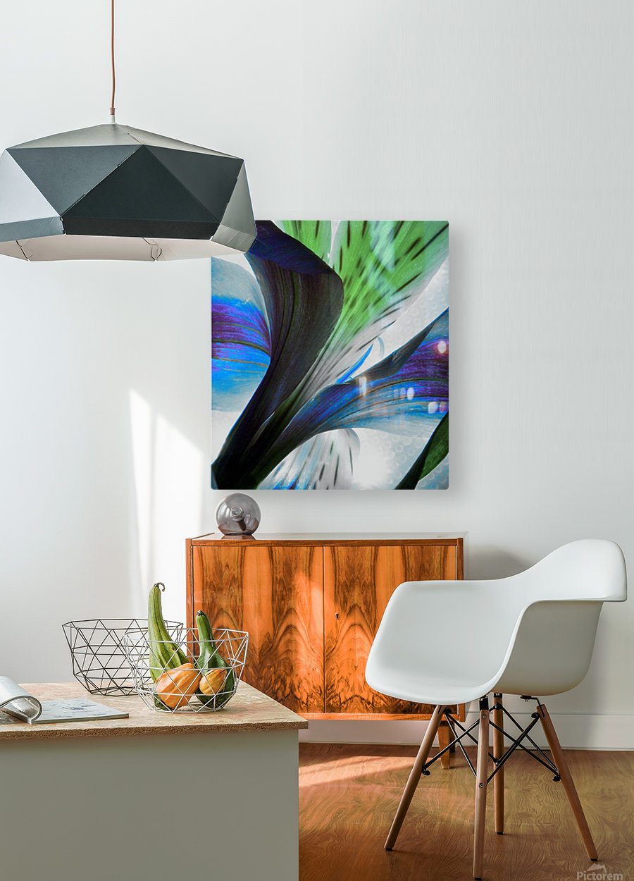Vibrant Iris  HD Metal print with Floating Frame on Back